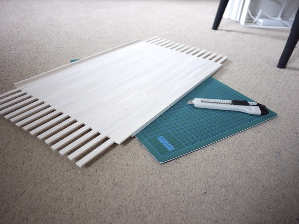 Model Bedroom - ISCD Project - Cutting Mini Floor Boards