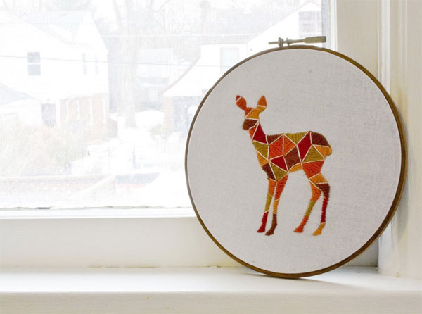 Embroidery Trend - Deer Embroidery Art