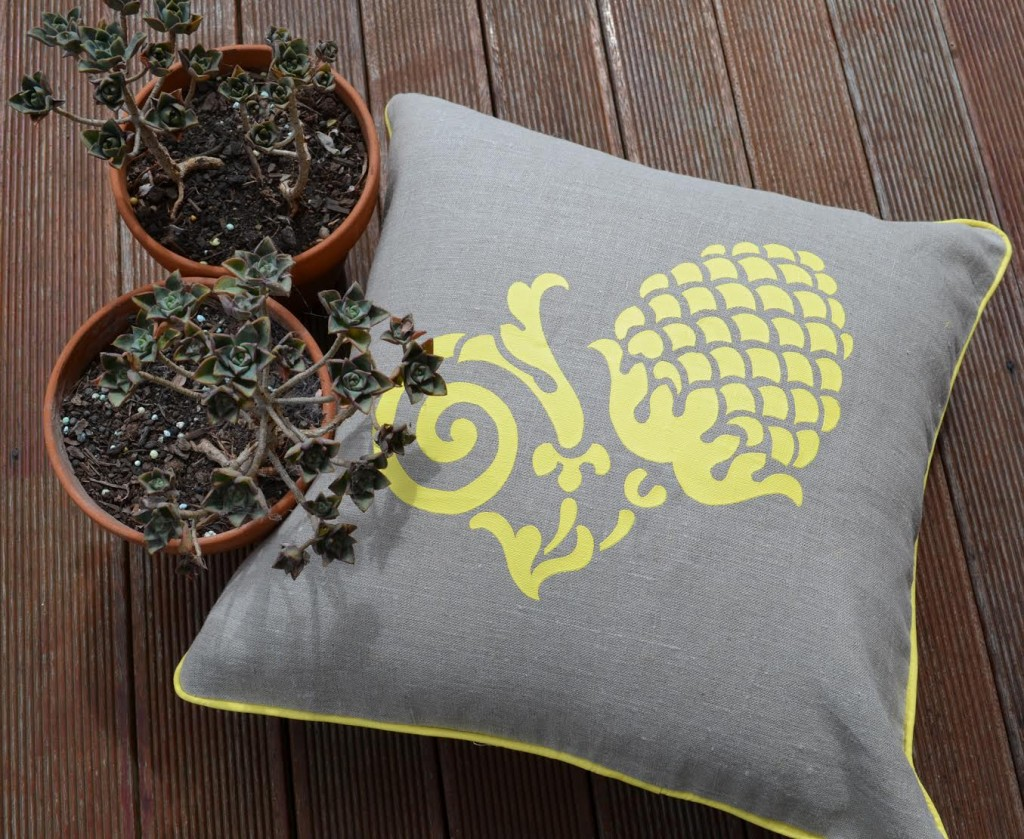 Shakiraaz cushions with plants in terracotta pots