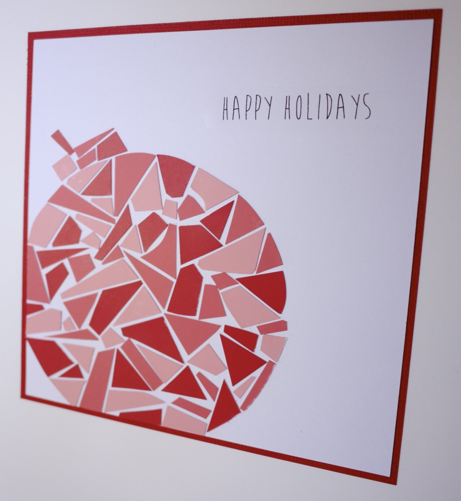 Make Your Own Mosaic Christmas Cards - Bauble Card