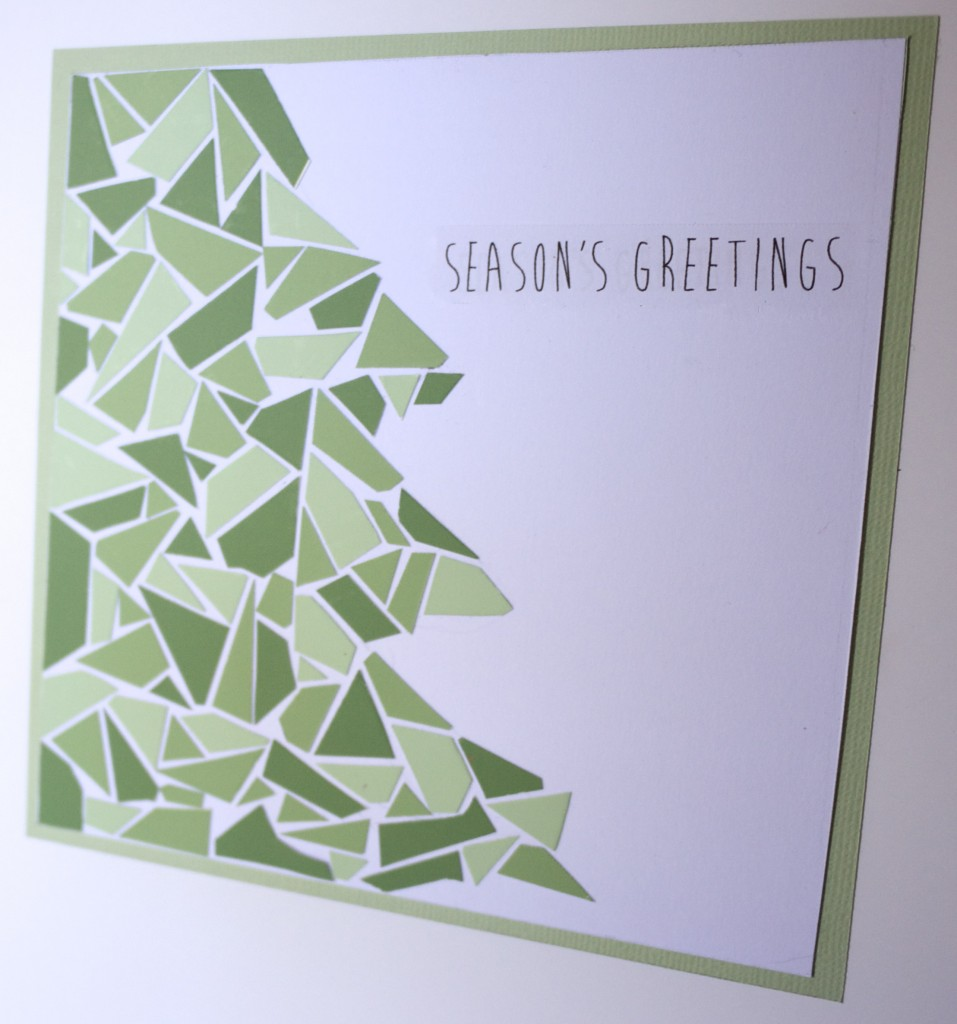 Make Your Own Mosaic Christmas Cards - Tree Card
