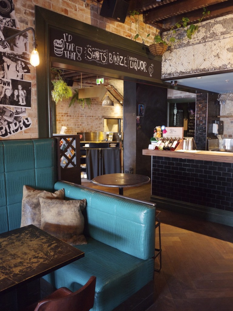Animal Bar in Newtown - Teal Blue Booth Seating