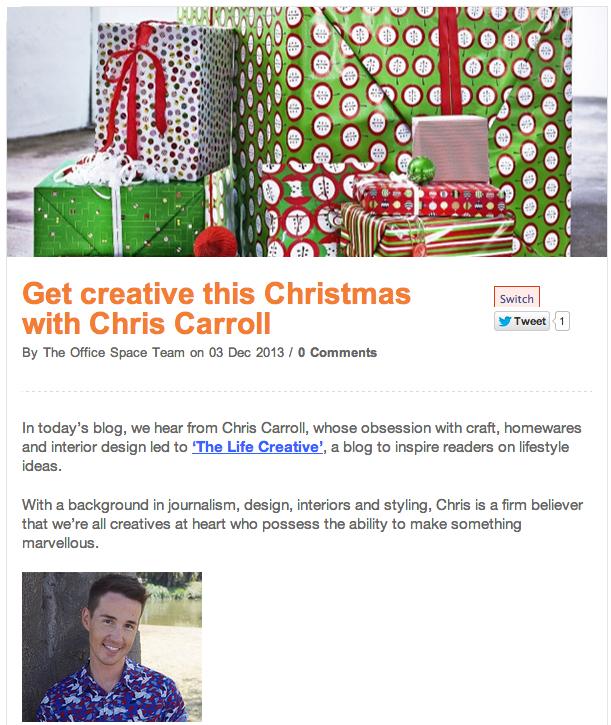 Chris Carroll - The Life Creative - Officeworks Blog