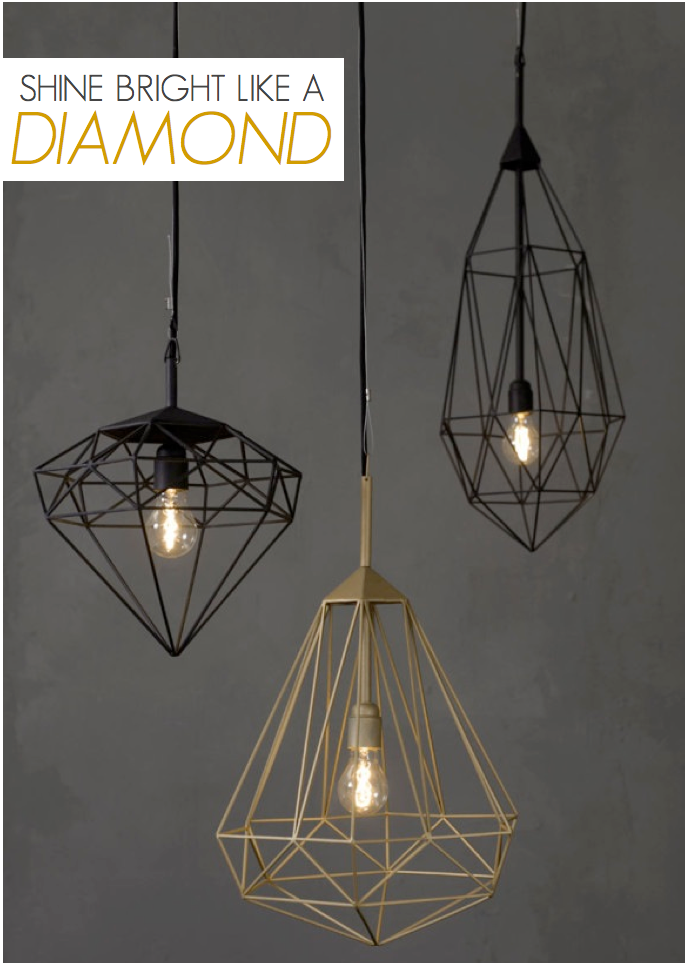 Diamond Light Pendants - Industrial