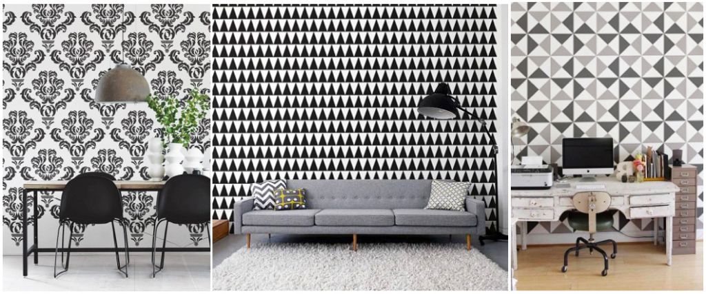 Wall Decal Decorating Ideas - Black and White Patterns