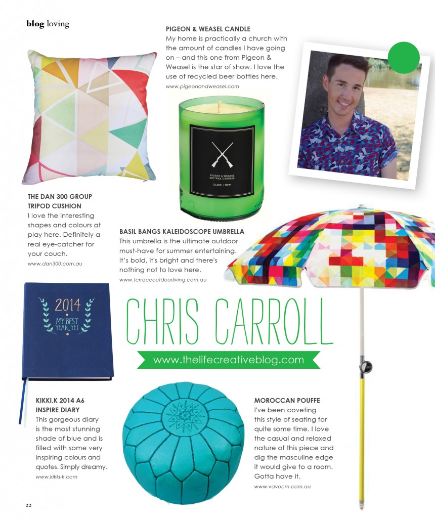 Chris Carroll - Adore Home Magazine - December January