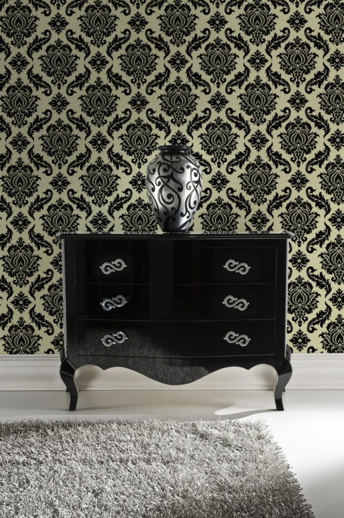 Damask Wallpaper - Feature Wall Ideas from The Life Creative