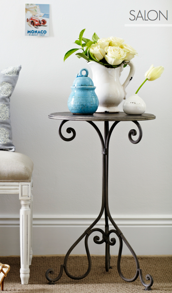 French Style Salon Bedside Table - Ornate