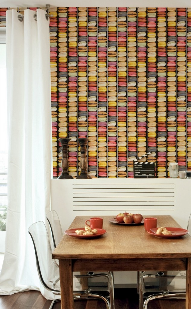 Playful Macaroon Masculine Wallpaper - Feature Wall Ideas from The Life Creative