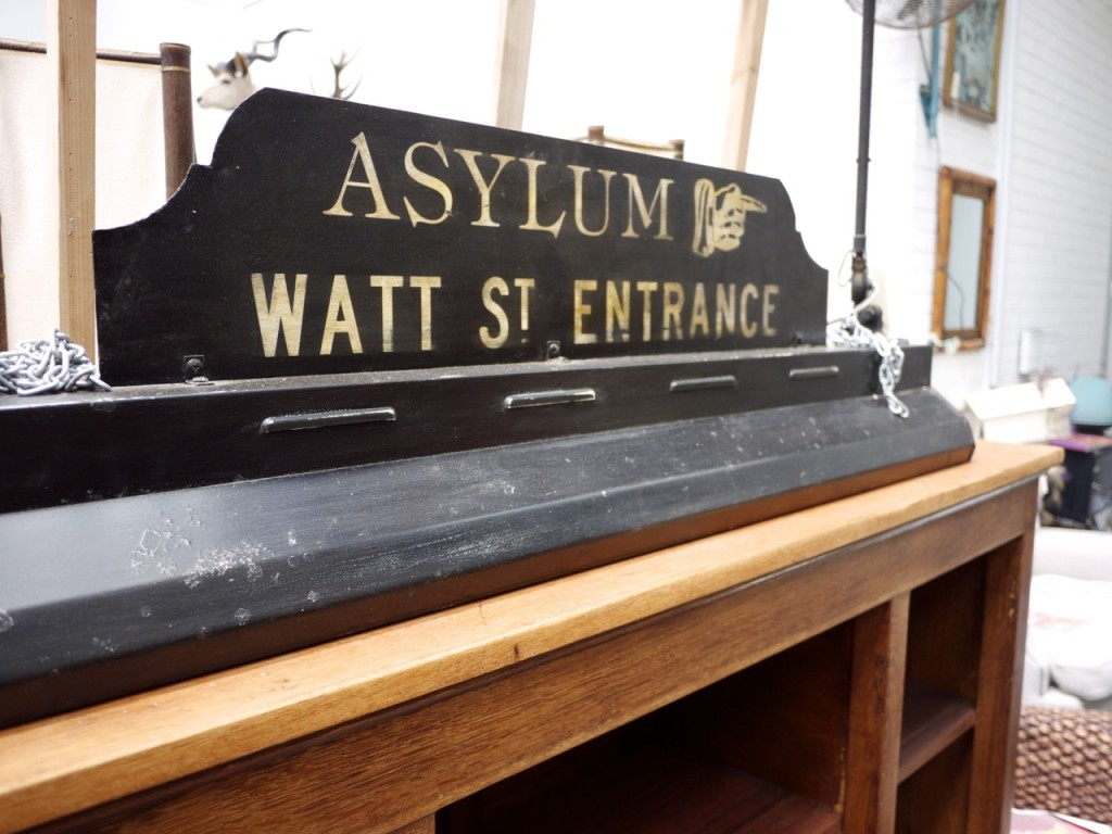 Vintage Furniture - The Works Glebe - Vintage Asylum Sign