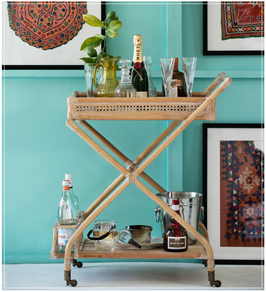 Roy Bar Cart Eclectic Traveller Boho Look