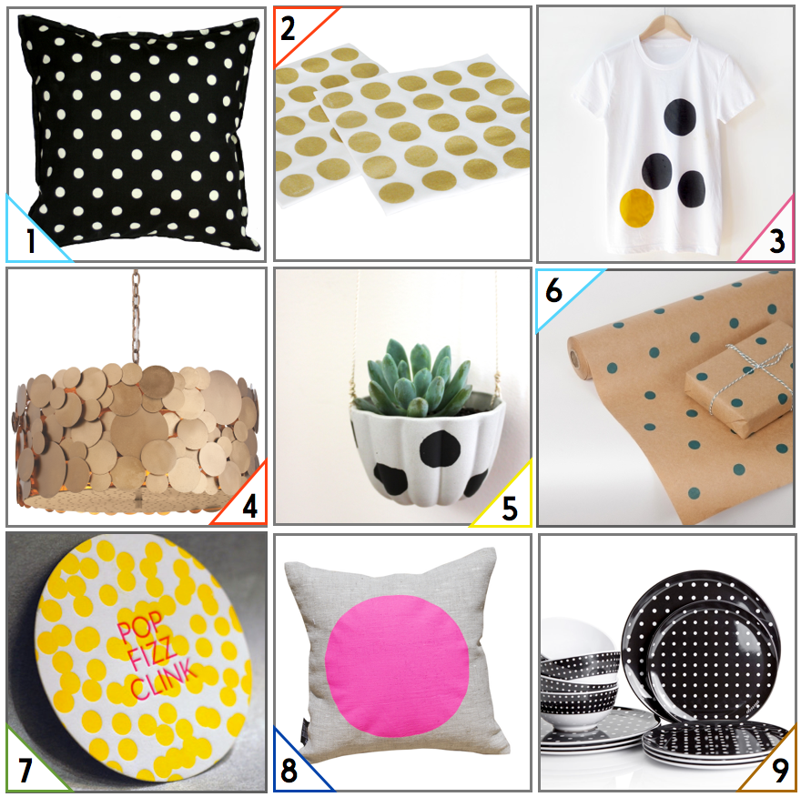 Polka Dots in Decor - Homewares Picks from The Life Creative