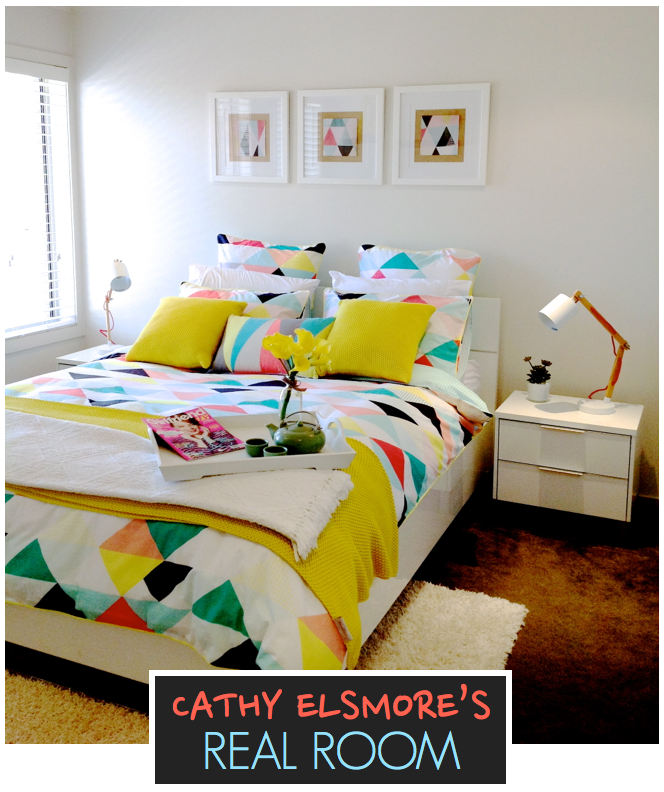 Bright Bedroom with Colourful Bedding