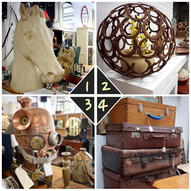 Vintage Furniture - Horse Head and Suitcases - The Works Glebe