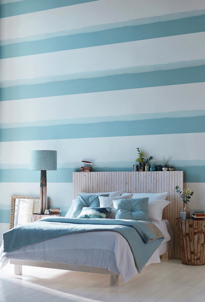 Striped Wallpaper - Feature Wall Ideas from The Life Creative