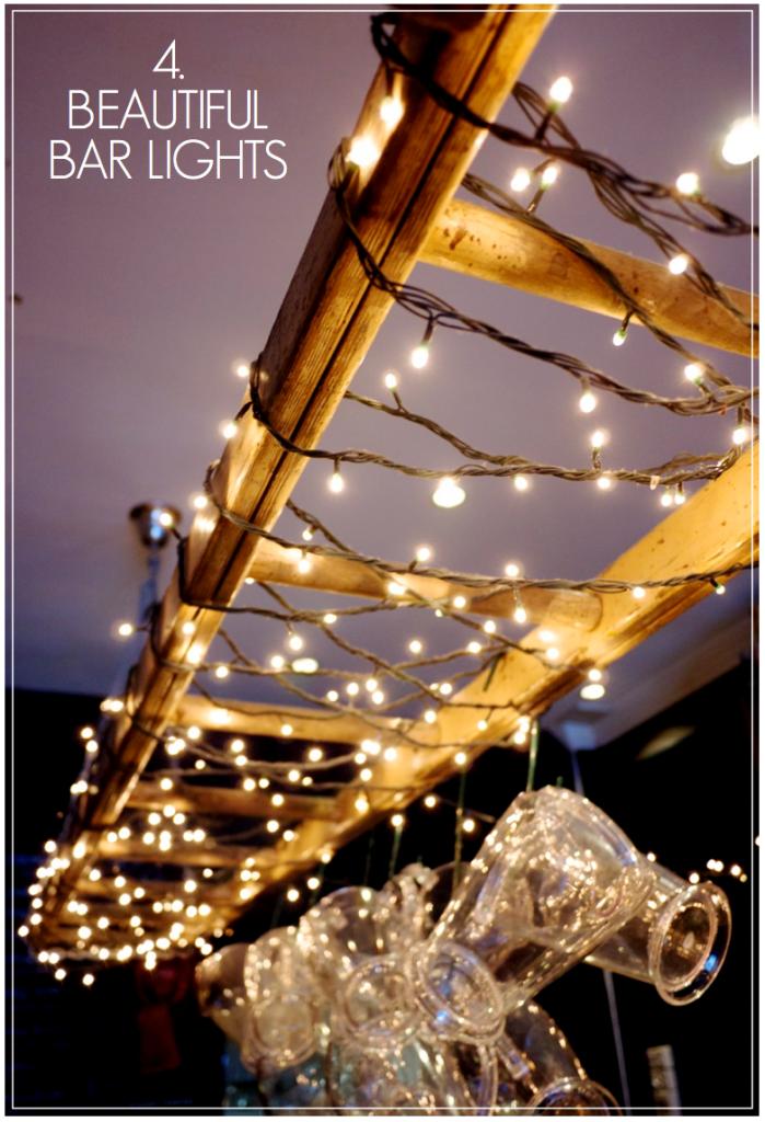 Creative Find - Black Sheep Bar Lighting Fairy Lights Ladder