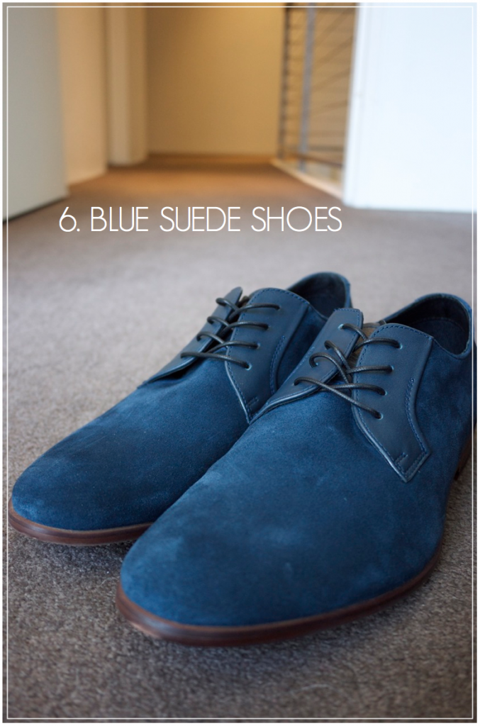 Creative Find - Blue Suede Shoes from Aldo