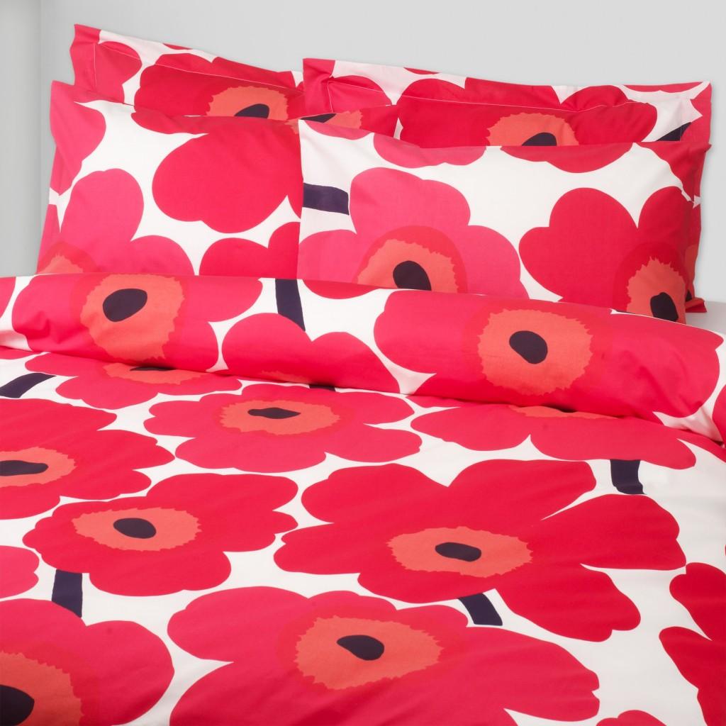 Marimekko Unikko Poppy Bedding