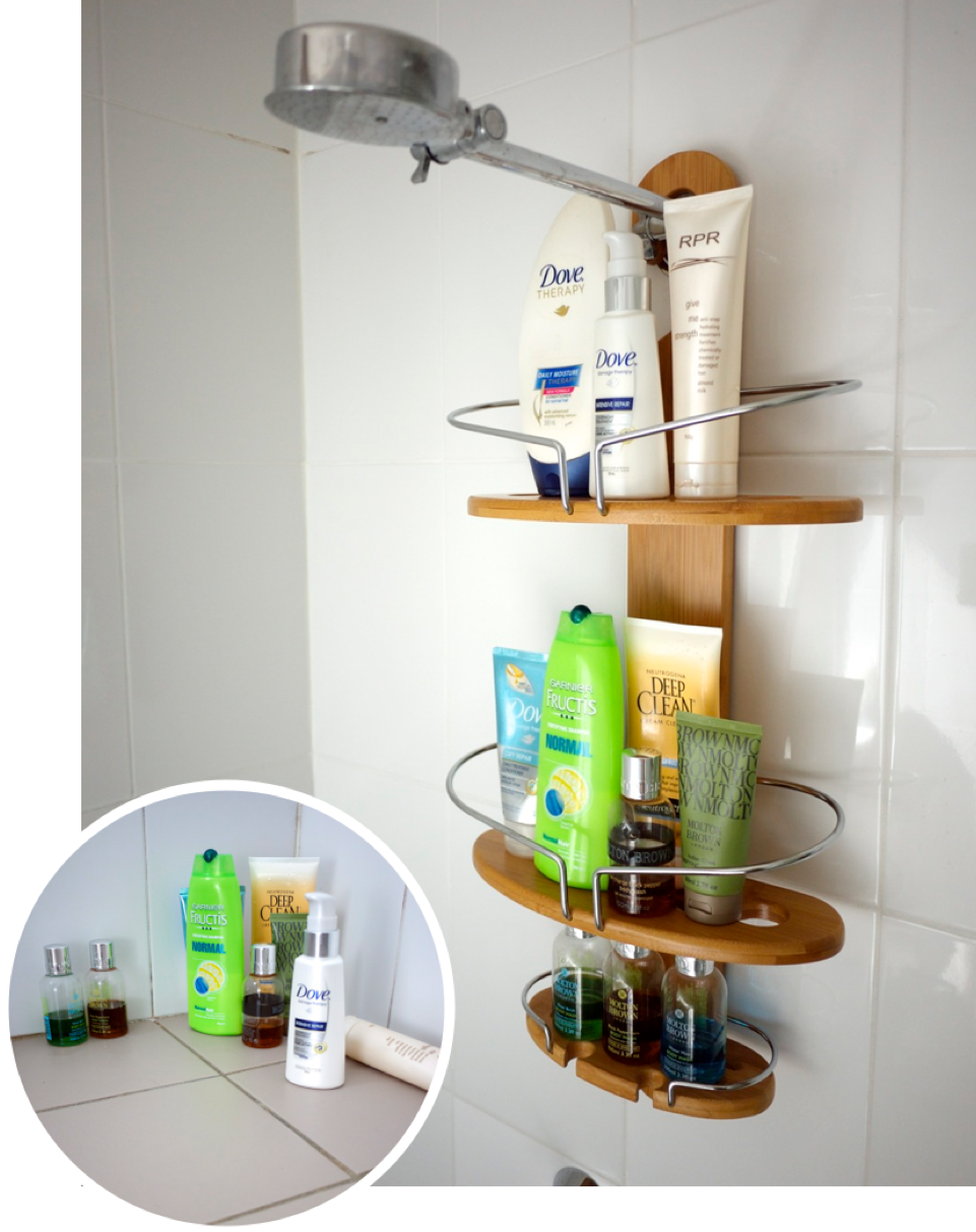 Howards Storage World bamboo shower caddy