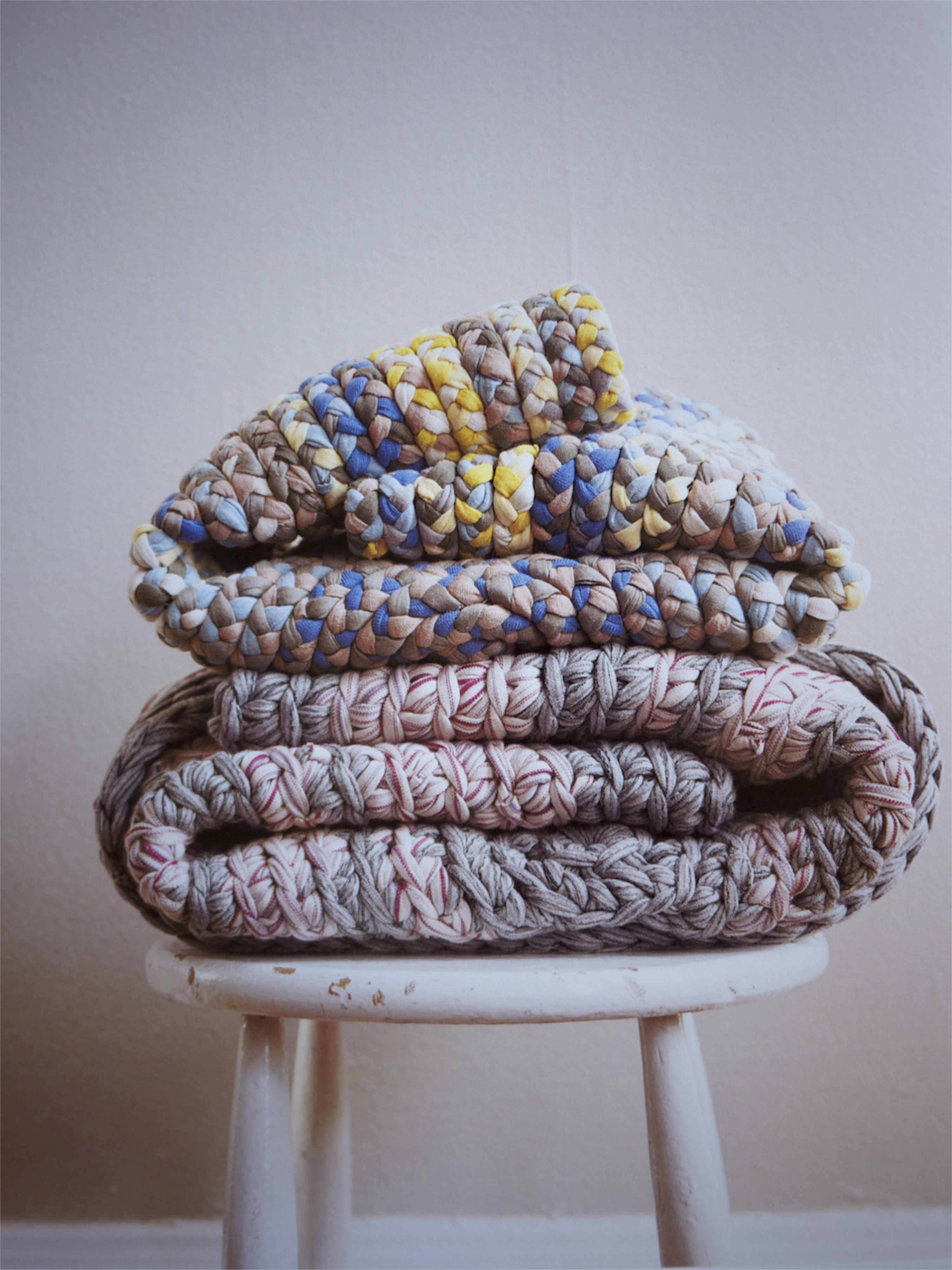 Made by Hand Knitted Blanket