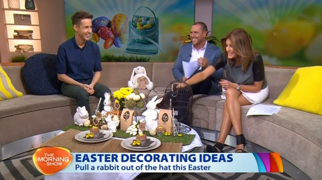 Chris Carroll on The Morning Show - Easter Decorating