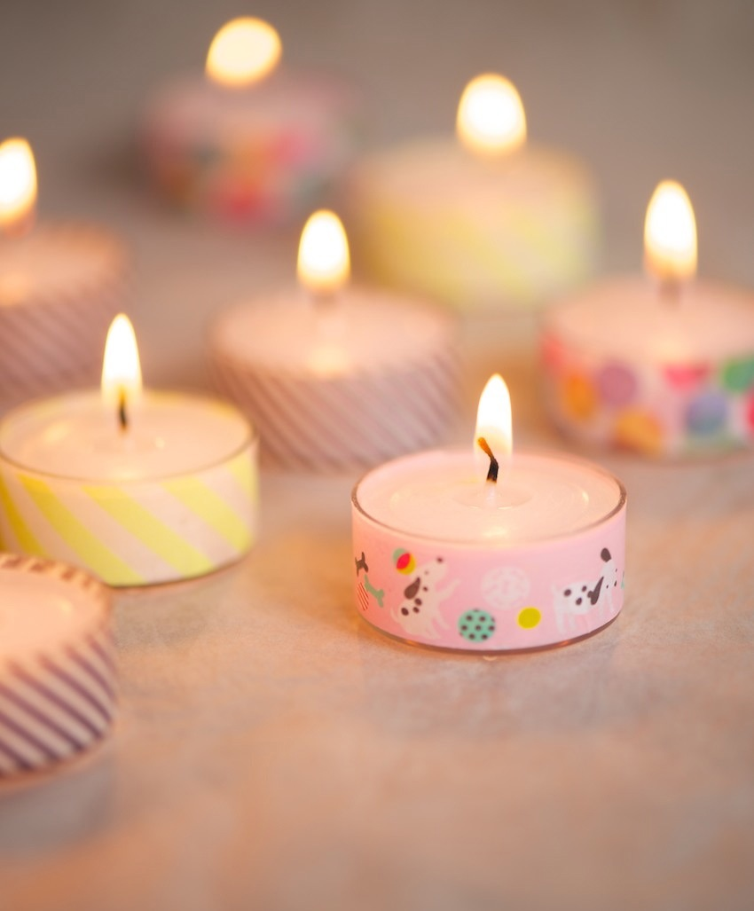 Tea Lights With Washi Tape