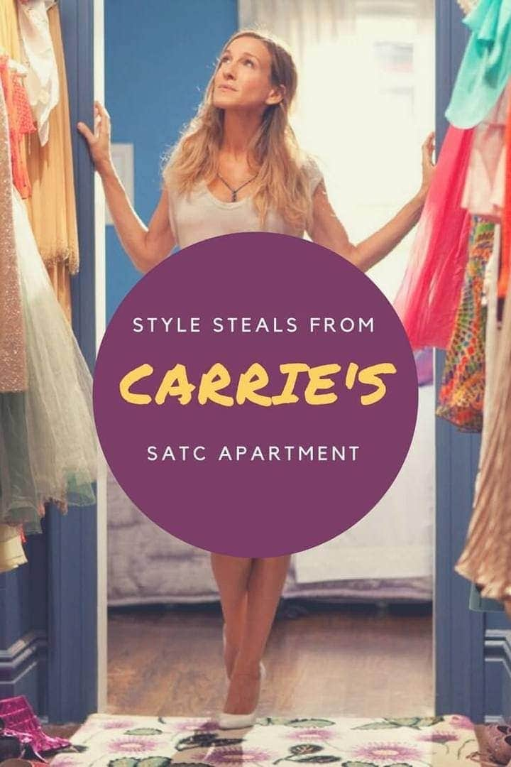 design ideas from carrie bradshaw's sex and the city apartment