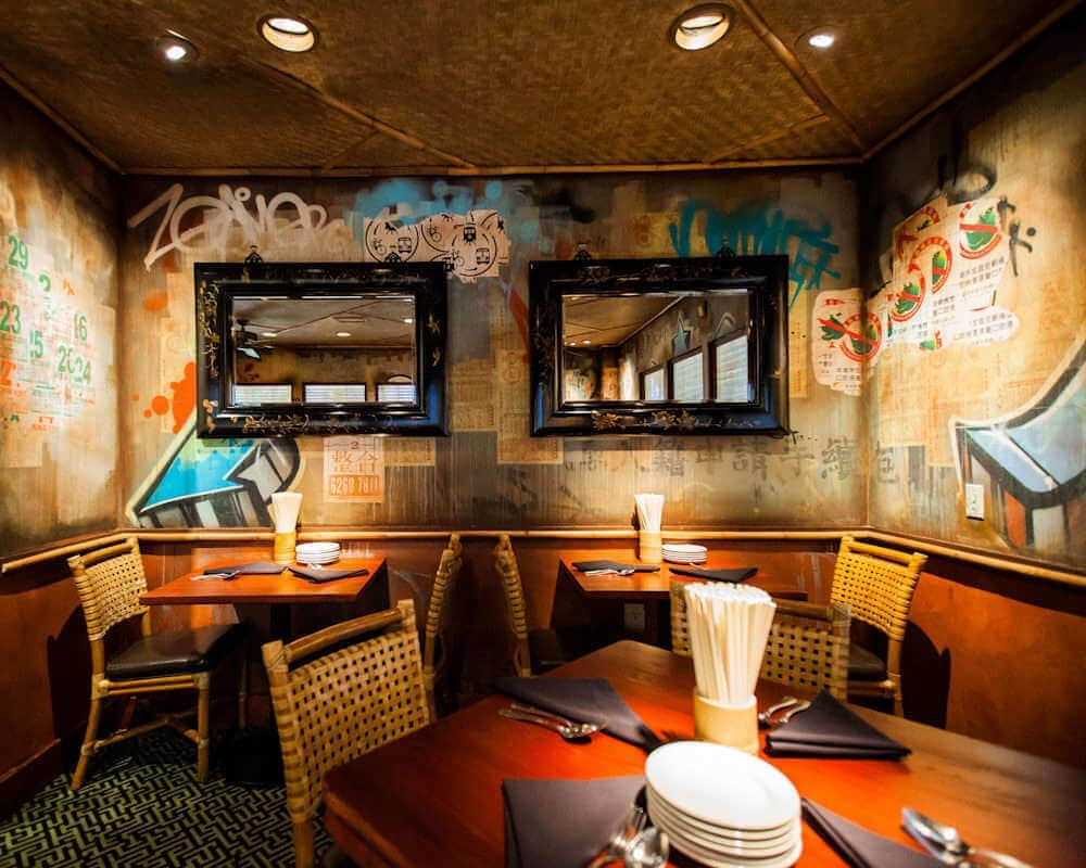 Graffiti Interiors - Inside a Restaurant