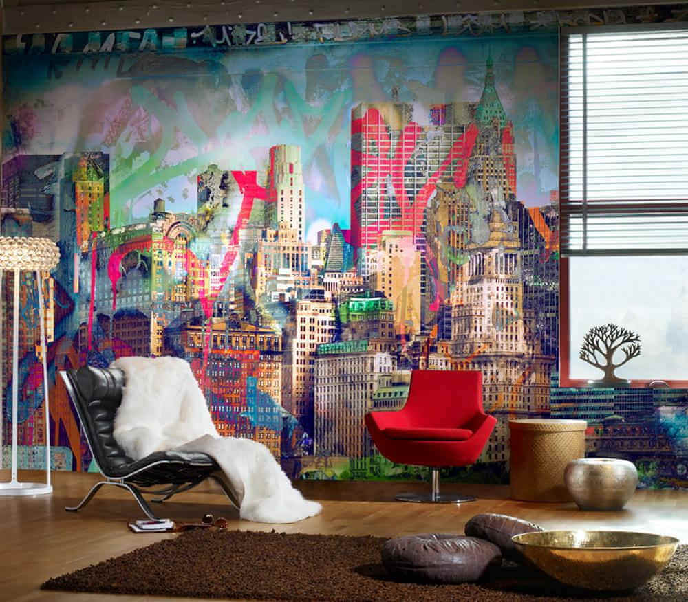 Graffiti Interiors - Wall in Loungeroom