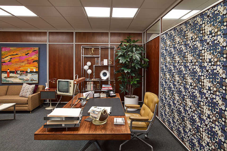 Mad Men Set - Feature Wall in Office
