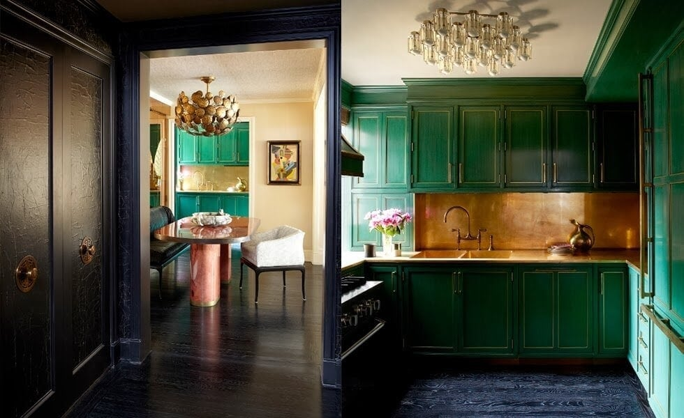 cameron diaz manhattan apartment green kitchen