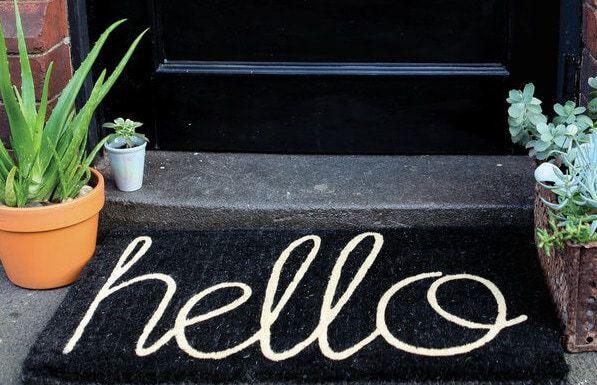 Black Homewares - Hello Doormat
