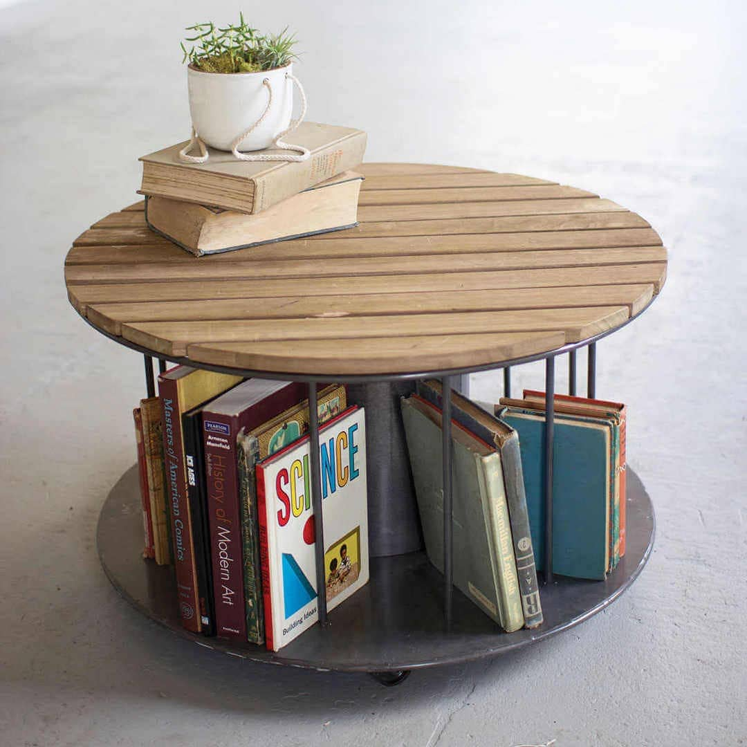 Coffee Table Ideas - Industrial Reel Spindle