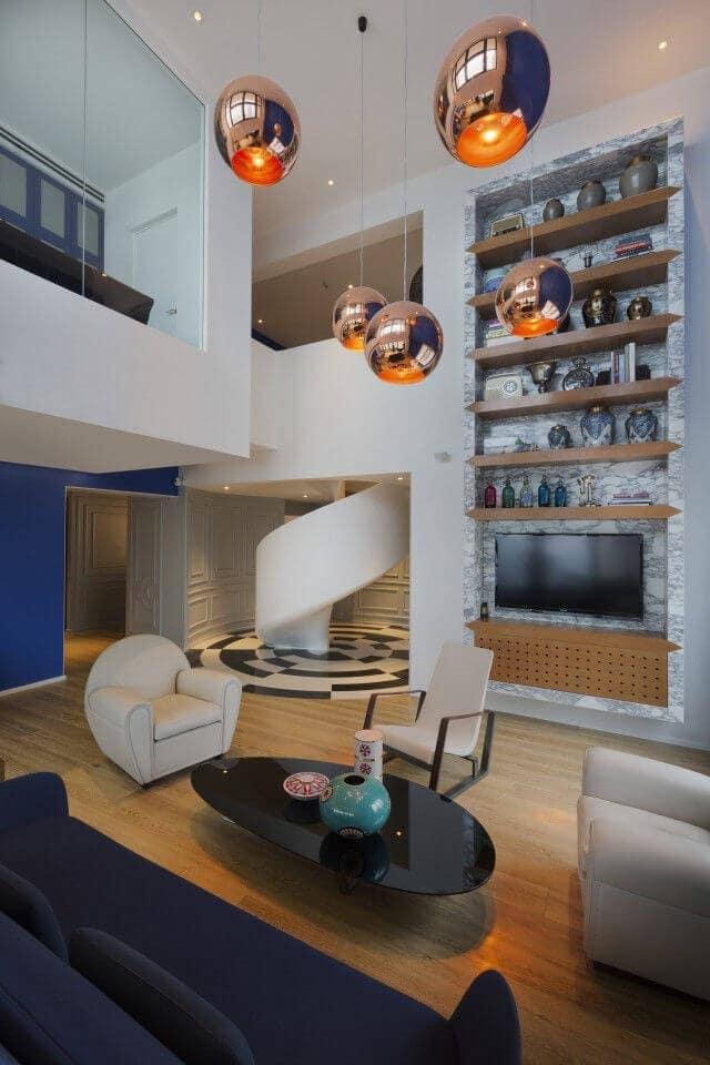 Penthouse Interior Design - Living Space