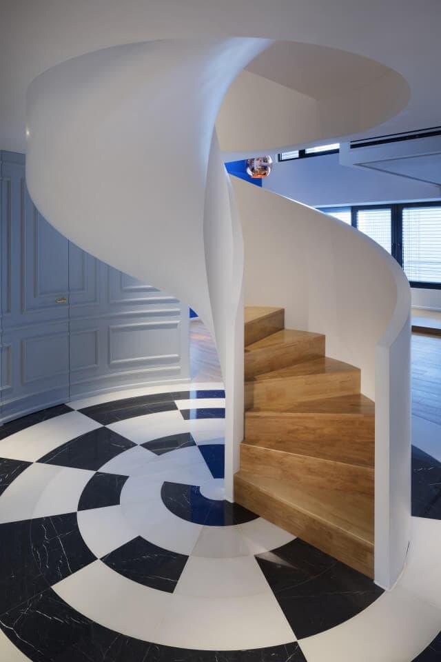 Penthouse Interior - Spirtal Staircase
