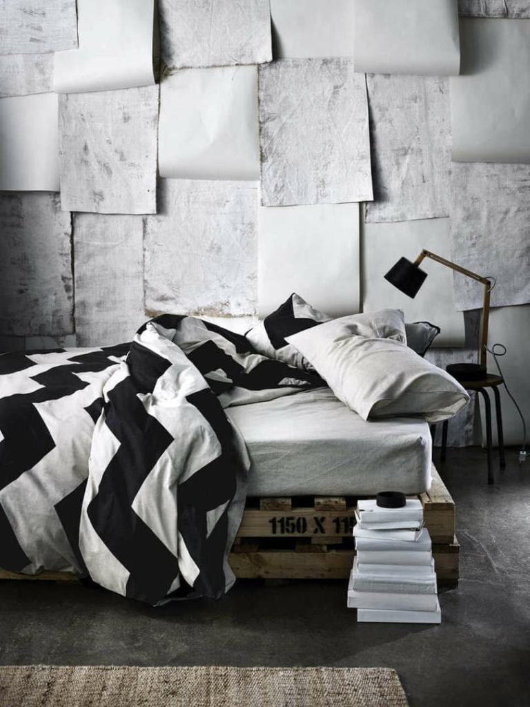 Aura Bedding in Chevron