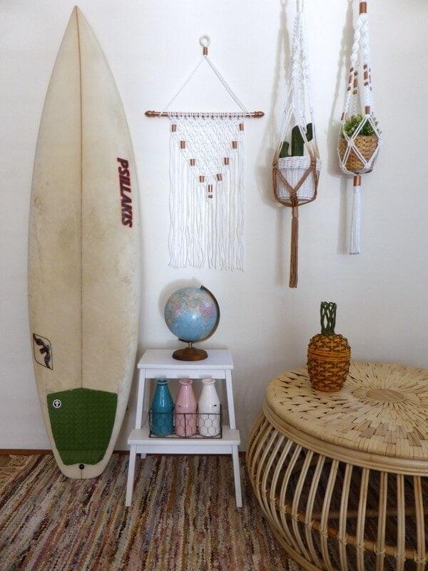 Macrame hanger from dreamcatcher designs