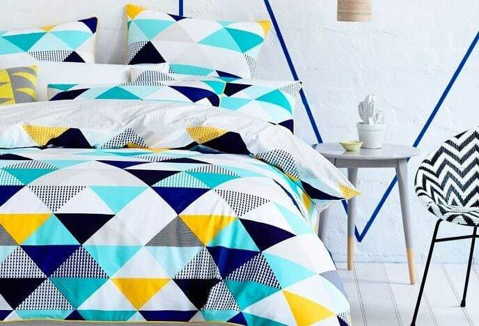 Adairs Bedding - Geometric Quilt Cover