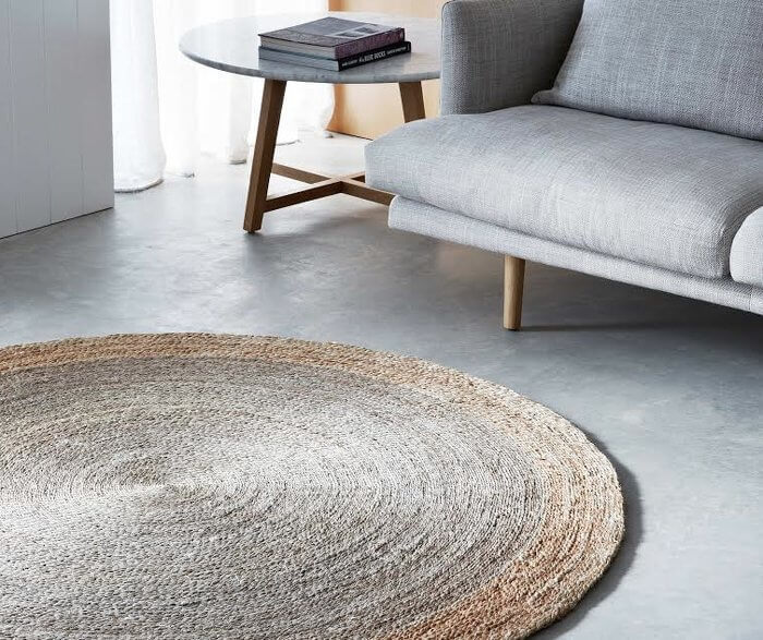 Armadillo Decorator Rug - Round