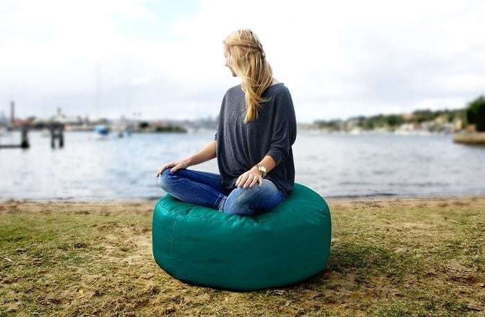 Bliss Beanbag Ottoman in Teal