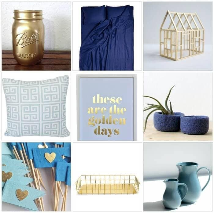 Blue and Gold Homewares and Decor