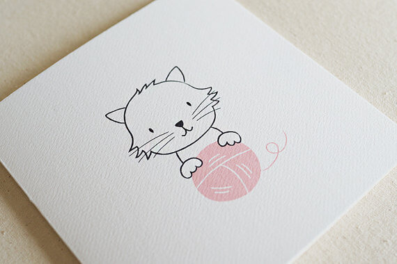 Greeting Cards - TJ Stationery - Cat