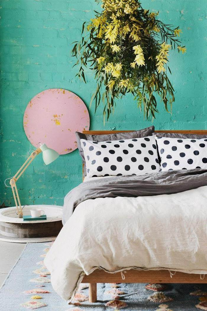 I love linen Polka Dot Bedding