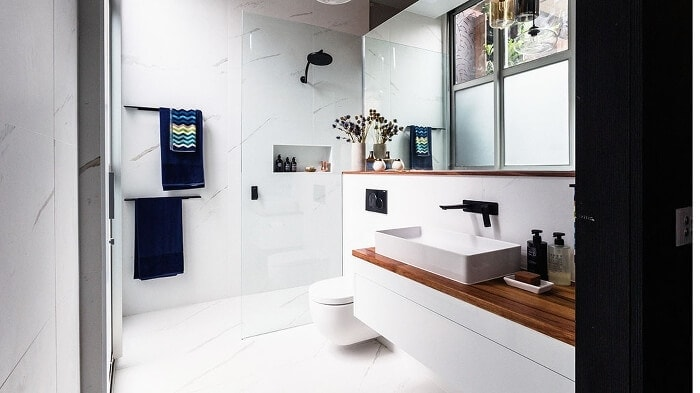 Michael and Carlene's Ensuite - The Block