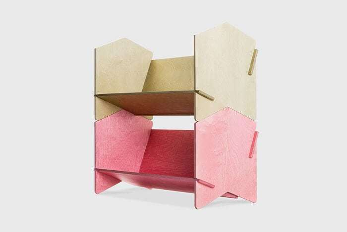 Nomi Chevron Shelf in Pink