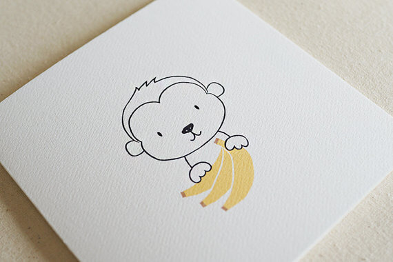 TJ Stationery - Greeting Cards - Monkey