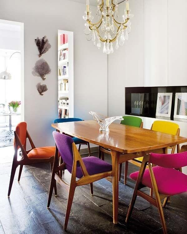 Bold Design - Rainbow Colour Chairs