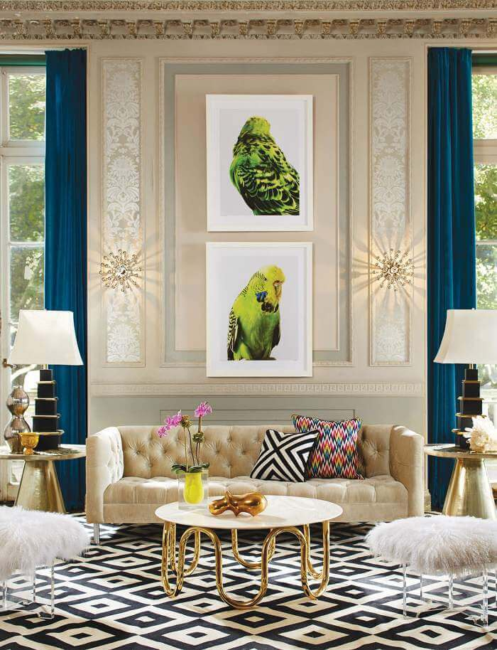 Bold Interior Design Scheme - Animal Art