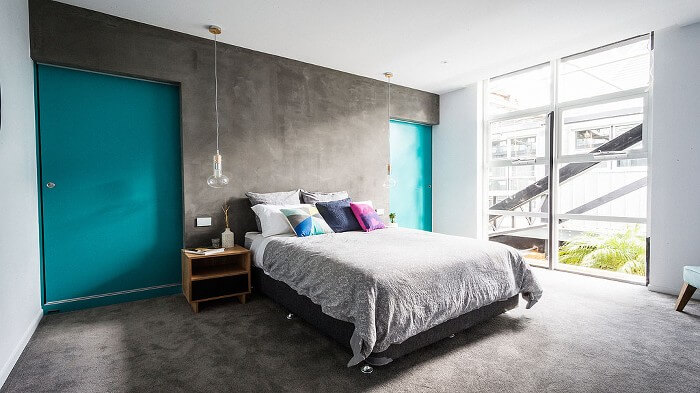 Chris and Jenna's Bedroom - The Block Glasshouse