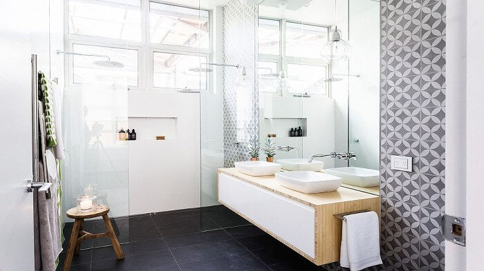 Darren and Dee's Ensuite - The Block Glasshouse
